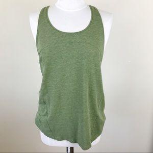 Lululemon Green Muscle Cotton Wick Tank Top Medium